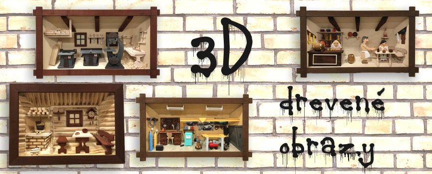 3D drevené obrazy