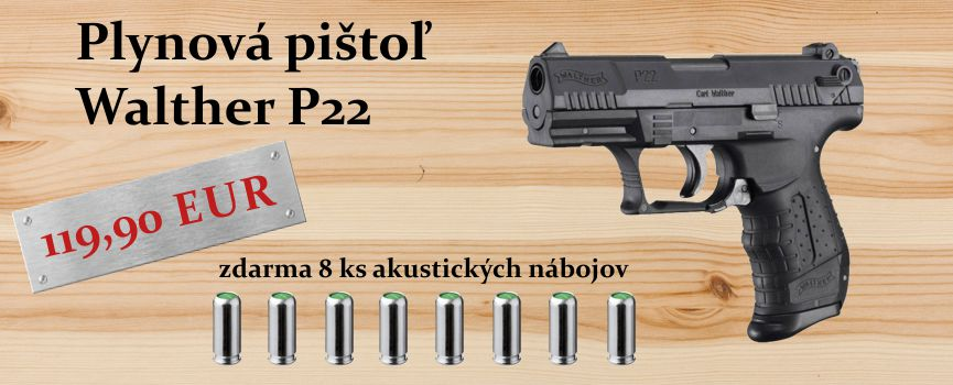 plynovka walther p22 so strelivom