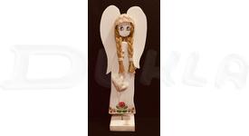 Anjel drevený 51 cm (dekupáž)