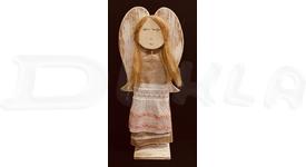 Anjel drevený textilný 57 cm No.12