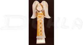 Anjel drevený textilný 57 cm No.14