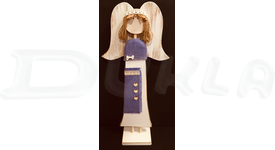 Anjel drevený textilný 57 cm No.15