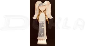 Anjel drevený textilný 57 cm No.16
