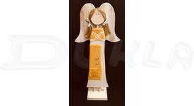 Anjel drevený textilný 57 cm No.18