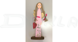 Anjel drevený 46 cm (ružový)