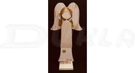 Anjel drevený so svetríkom 57 cm No.2 (béžový)