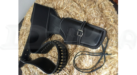 Replika Kovbojský kožený pás s 24 nábojmi