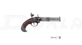 Replika Trojhlavňová pištoľ, Francúzsko 18. stor.