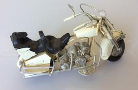 Kovový model Retro motorka žltá (20 cm)