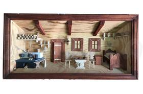 Drevený 3D obraz Slovenská izba XL